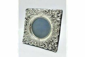 Lovely Solid Silver Framed Photo Frame Chester 1902