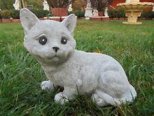 Gartenfiguren,Katze sitzend, Steinguss, Katzen, Statue,Tierfigur, Top Gartendeko