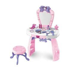 Kids Pretend Play Set Girls Vanity Beauty Dresser Table Chair Kit w/Makeup Acces