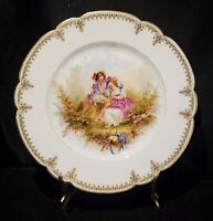 Antique Rare Sevres Hand Painted  Signed Chateau de St Cloud Cabinet Plate