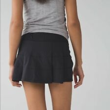 LULULEMON NWT HARD-TO-FIND/DISCONTINUED BLACK PACE RIVAL SKIRT II - Size  4 Tall