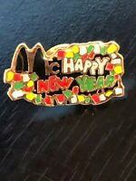 Vintage Collectible McDonald's Happy New Year Metal Colorful Pinback Lapel Pin