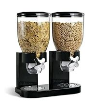Corn Flakes Dispenser Cereal Countertop Breakfast Double Canister Dry Commercial