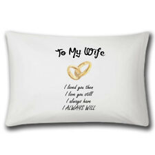 To My Wife Pillow Case | Wedding Gift | Anniversary Gifts | Love | Cute Married