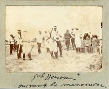 Militaire, Le Général Herson suivant la manoeuvre ca.1897 vintage citrate print