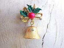 Glocke - Vintage Brosche Weihnachten Adventskalender x-Mas Schmuck Geschenk