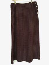 Monsoon full length skirt, UK size 14, tartan print, button & zip, ankle length.