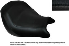 BLACK STITCH CUSTOM FITS HONDA VTX 1800 02-04 FRONT LEATHER SEAT COVER