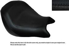 Negro Stitch personalizado se adapta a Honda Vtx 1800 02-04 Frontal De Cuero Funda De Asiento
