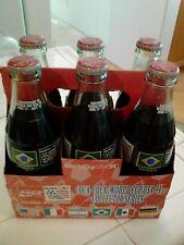 World Cup Soccer Brazil Coca Cola 1994 Six Pack unopened 8oz & Case Souvenir