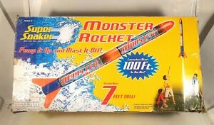 Super Soaker Monster Rocket Special Ed Launches Over 100 Ft. In AIR NEW OPEN BOX