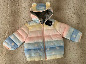 Gap baby girl cold control winter puffer jacket size 18-24 months NWT