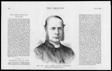 1882-antica stampa Ritratti Canon Ernest Roland WILBERFORCE Newcastle (105)