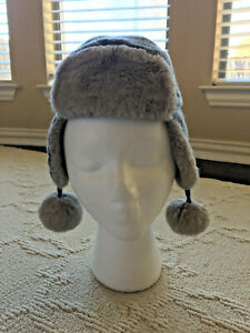 Baby Gap Glitter Fur Trapper Frosty Morning Hat Gray Size: 12-18 Months