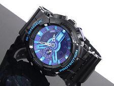 Casio G-Shock GA-110HC-1A Ana-Digi Glossy Black and Hyper Blue Purple Watch