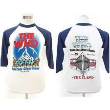 Vintage vtg 80's The Who x The Clash Pontiac Silverdome 1982 Raglan 3q T Shirt