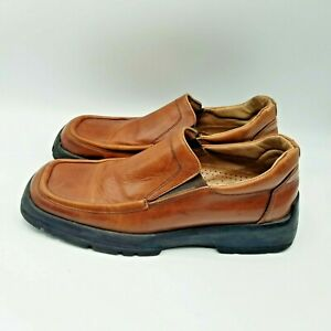 Aldo Men's Size 41 Brown Loafers. Made in Italy. Rubber Logger Soles.