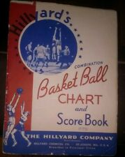 1943 HILLYARD CHEMICAL CO BASKETBALL CHART & SCOREBOOK RECORDED TOURNY AAU PRO!