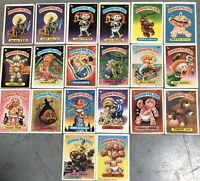 20 Vintage Garbage Pail Kids Cards Original 1st 2nd 3rd 5th 6th Series 1985 1986
