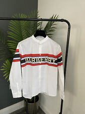 Burberry Gerri Shirt in White & Red  Age 12  New RRP £130