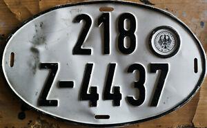 Vintage 1977 West Germany German Oval License Plate