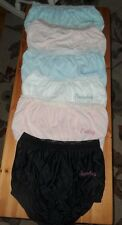 VTG Lot 6 Miss Elaine Days of the Week BUTTER SOFT DOUBLE NYLON PANTIES XXL 9 +