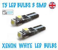10x NEW T5 LED BULBS 3 SMD DASHBOARD/SUN VISOR LIGHTS SUPER XENON WHITE 286 12V