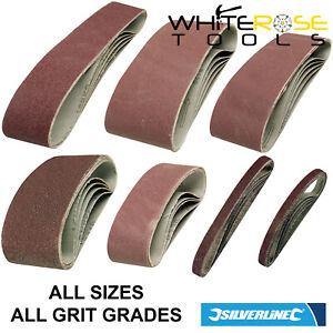 Silverline Sanding Belts Belt Sander Sheets All Sizes Grits 5 Pack Sandpaper