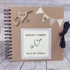 Personalised Wedding Planner Bride To Be Bridesmaid Keepsake Scrap Book Gift
