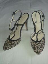 scarpe BOTTEGA VENETA in pizzo - taglia 40 - tacco 12 - cinturino caviglia