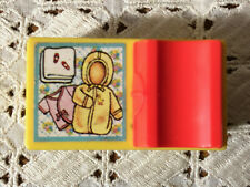 Vintage 1972 Fisher Price Dollhouse Baby Diaper Changing Table Yellow & Pink