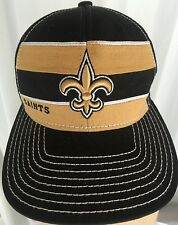 NFL New Orleans Saints Reebok Hat OnField Cap Black Gold Team New
