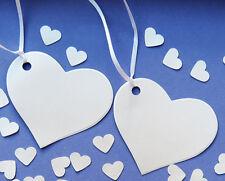 Wedding cuore di etichette con nastro. qualità white pearl card 300gsm augurare alberi.