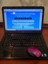Dell Inspiron N5050 Laptop Windows 10 Intel Core i3 CD/DVD Burner Mouse &Adapter