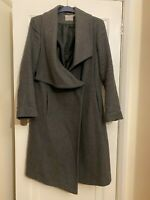 ASOS woollen coat maxi waterfall grey size 18 or goes well on 16. 65% wool! Warm