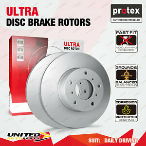 2 Front Protex Vented Disc Brake Rotors for Audi A61LD 1LG 1LV A8 Allroad