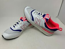 New Balance Mens 997H White/Pink/Laser Blue (CM997HAJ) size 10.5 - Brand New