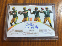 2015 Panini Flawless Brett Hundley RC Rookie ON CARD Gold AUTO Packers 9/10!!