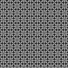 Wallpaper Mid Century Modern Retro Gloss Metallic Brushed Silver on Black