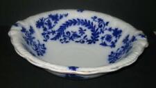 Antique J&G Meakin Flow Blue Wash Basin Bowl Zuyder Hanley England cobalt