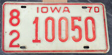 RARE ORIGINAL AMERICAN LICENCE NUMBER PLATE VINTAGE MAN CAVE IOWA #179