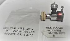 New Cox Pee Wee .020 control line free flight model airplane engine