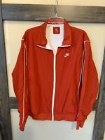 NIKE Men's Vintage Red Lined Windbreaker Full Zip Jacket Size L