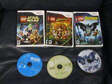 Nintendo Lego Star Wars Complete Saga Indiana Jones Batman Games