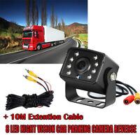 Auto Caméra de Recul de vision nocturne 140° Vision de Nuit 8 LED IR + 10M RCA