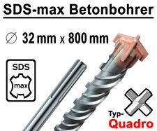 SDS-MAX Quadro Bohrer Ø 32 mm x 800 mm Lang Hammerbohrer Betonbohrer Steinbohrer