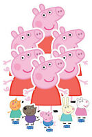 Peppa Pig and Friends Table Top Cardboard Cutouts Variety Party Pack Official