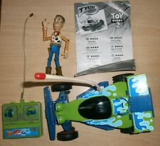DISNEY PIXAR TYCO REMOTE CONTROL RC RACE CAR TOY STORY 2 VINTAGE 90'S & WOODY