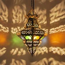 Oriental marroquí Árabes Lámpara Colgante tombia-multifarbig de latón