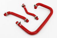 Silicone Crankcase Breather Hoses fits Land Rover Defender 300TDI Vacuum Red